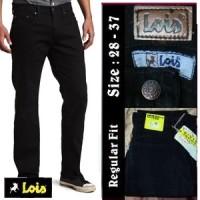 Celana Jeans Lois Standar/Regular Fit Hitam