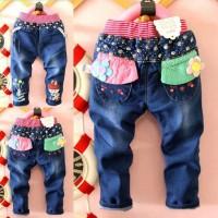 Celana Jeans Flower Girl