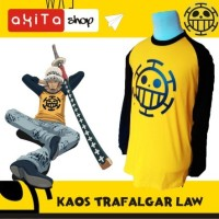 "Kaos Yellow Trafalgar Law "" Anime Jepang One Piece """