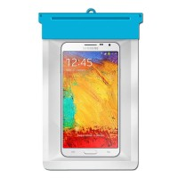 Zoe Waterproof Bag Case For Samsung Galaxy Note 3 N9000 32GB - Biru