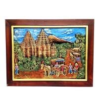 harga Lukisan Rilief / Lukisan 3D / Lukisan Timbul Prambanan 44x33cm Tokopedia.com