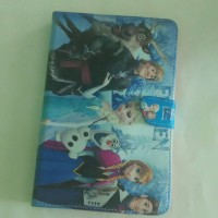 Cover flip cover case book cover Samsung Tab 3 V T116 gambar kartun