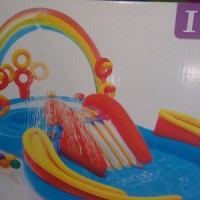 Mainan anak Rainbow Ring Play Center merk intex
