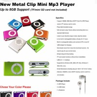 NEW METAL MINI CLIP MP3 PLAYER / MP3 CLASSIC