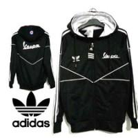 harga Jaket Adidas Vespa Diadora Black Tokopedia.com