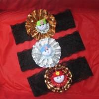 HeadBand Baby / Bando bayi renda elastis motif bunga boneka