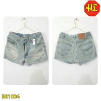 b01004 hotpants short pants denim jeans baby blue biru washed bangkok