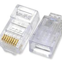 Jack Konektor RG45/ Jek RG 45 Kabel Jaringan Network UTP CAT 5E Telpon