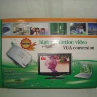 Converter Adapter Box VGA Female To AV (RCA Female) Silver