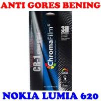 Antigores Nokia Lumia 620 Bening Costanza Anti Gores Clear Gloss Cr 1