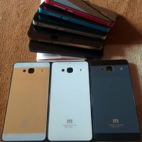 Backcase Alumunium Iphone Style Tempered Glass Xiaomi Redmi 2