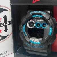 jam tangan Gshock GD 120 Hitam list Biru Kw Super