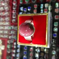 cincin wanita /pria batu red borneo ikat swasa(emas muda)