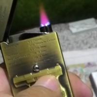 Korek Super Bara Gas Flip Stenlis Import (hargasli)