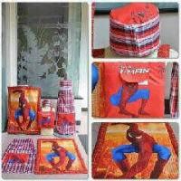 sarung instan karakter spiderman (ukuran M)