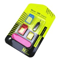 NOOSY 3 in 1 Nano SIM Adapter with SIM Card Pin Key and Double Tape