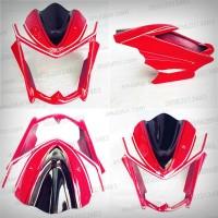 harga Cover Headlamp / Lampu Depan Yamaha New Vixion Saiya Merah (NVL) Tokopedia.com