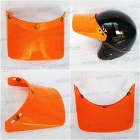 harga Topi Pet Panjang Helm Classic Bogo Retro Vespa Cakil Cross Orange Tokopedia.com