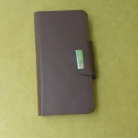 Cover Case Kulit Asli Leather Case Acer Liquid Z410 Coklat
