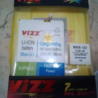 Baterai Dobel Power Vizz Smartfren Andromax U3 Innos 2400mah