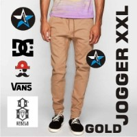 Celana Jogger Pants XXL For Man Warna Gold / Jogger Big size Random