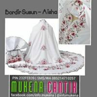 Mukena Bordir Susun Aisha - Putih 01