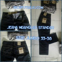 Celana Jeans Wrangler Ukuran Jumbo 33-38 Warna Dongker Murah Bisa Ecer