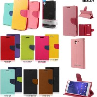 Mercury Wallet Leather Flip Cover Case Dompet Sony Xperia C3 - C3 Dual