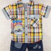 Baju Anak Setelan Kemeja Motor Cicles  Broklyn