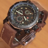 Jam Tangan Swiss Army SA3108M Leather Kw Super