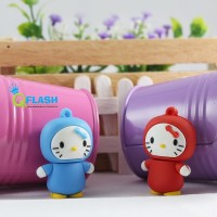 Flashdisk Unik Hello Kitty Rain Coat 16GB
