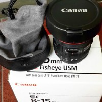 Lensa Kamera DSLR Canon EOS EF 8-15mm f/4 Fisheye Ori Datascript