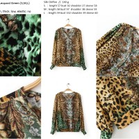 harga 16719 Baju Wanita Blouse Macan Leopard V Neck Top Chiffon Import Murah Tokopedia.com