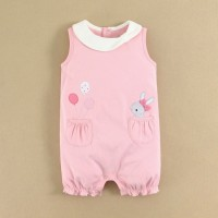 Mom and Bab Romper S17 - Pink Bunny / Jumper / Jumpsuit Bayi Perempuan