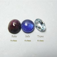 Paket 3 Batu Permata Natural Safir Ruby Topaz Part 4