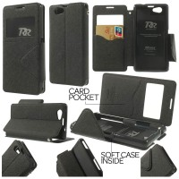 harga Jual Roar Leather Flip Book Cover Soft Case Sony Xperia Z1 Compact Tokopedia.com