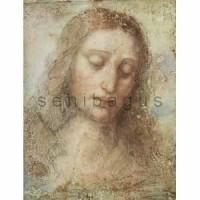 PR004x - Head of Christ - Leonardo da Vinci 20R lukisan Yesus