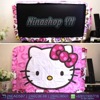 Jual sarung TV / Cover TV LED/LCD motif Hello Kitty Leopard Pink