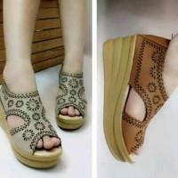 harga sandal sepatu wedges wanita lucu Tokopedia.com