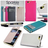 harga Nillkin Sparkle Leather Flip Cover Case Sony Xperia Z1 Compact Tokopedia.com
