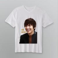 Jual Lee Min ho senyum sexy kaos V-neck t-shirt tees DTG A3 putih Murah