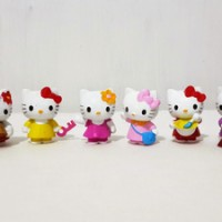 Pajangan Hello Kitty 1 set isi 6
