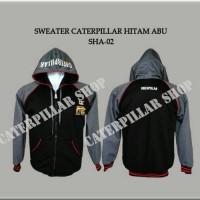 Sweater Caterpillar hitam abu (SHA-02)