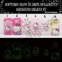 Softcase Glow In Dark Hellokitty Samsung Galaxy E7