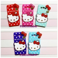 Softcase 3d Samsung Galaxy E7 : Hello Kitty Polkadot