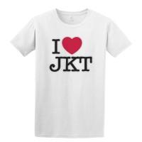 Kaos GILDAN I Love JKT, BDG, BGR, MDN dll