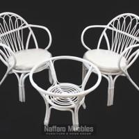 Furniture Minimalis Murah - Meja Kursi Tamu Rotan Putih