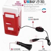 Kulkas Mini Warmer Cooler Box USB kotak pendingin minuman botol kaleng
