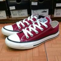sepatu converse allstar merah bata+box murah!