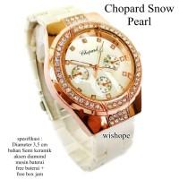 harga jam tangan murah wanita chopard snow pearl fullset Tokopedia.com